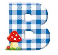 Deko-Buchstabe B BabyGlück