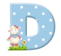 Deko-Buchstabe D BabyGlück