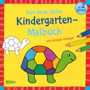 Das neue, dicke Kindergarten-Malbuch: Mit farbigen Vorlagen und lustiger Fehlers