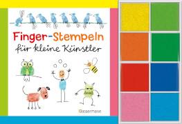 Fingerstempeln für kleine Künstler-Set: Buch und 8 Stempelkissen, Taschenbuch, 96 Seiten, ab 5 Jahren