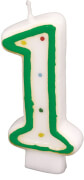 Amscan Zahlenkerze ''1'' (Motiv), Wachs, ca. 14x8x2 cm